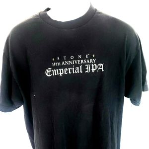 Stone IPA Mens Black T-shirt L